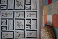 2. Seinämaalaukset, eläinkollaasi 1